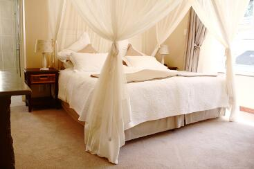 Double bed with mosquito netting and s
